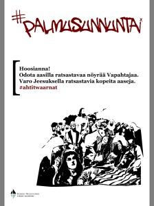 Helsingin seurakunnat toteuttivat keväällä 2014 #ahtitwaarna -kampanjan. Kuvat teki Anu Ylä-Jussila, tekstit laati Jan Ahonen.